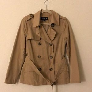 Forever 21 Tan Short Trench Jacket